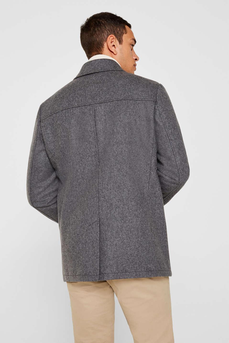 Wool blend: Coat made of Italian yarn, GREY, detail image number 3