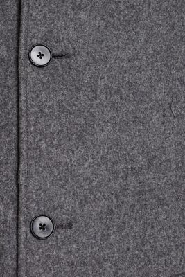 Wool blend: Coat made of Italian yarn, GREY, detail