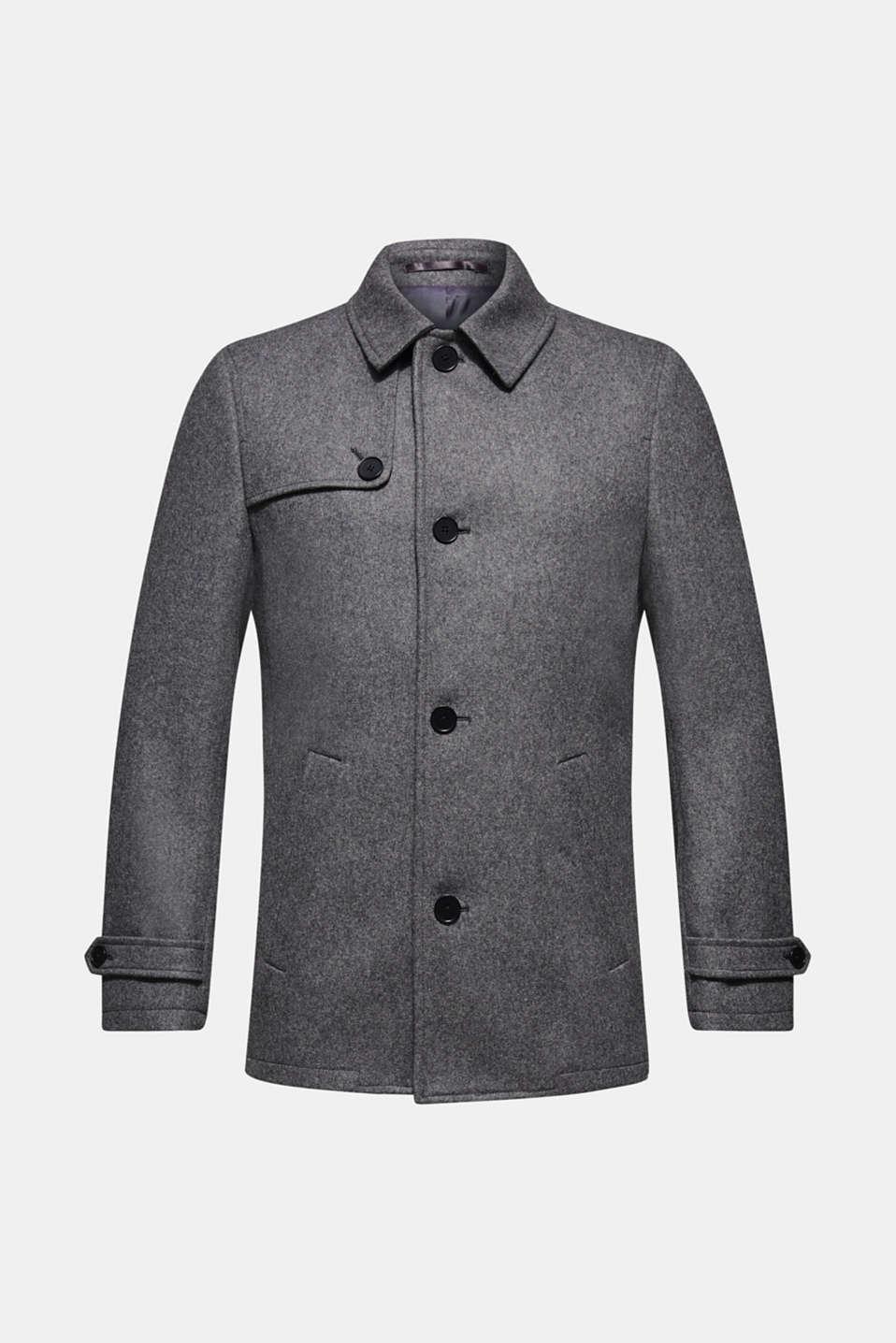 Wool blend: Coat made of Italian yarn, GREY, detail image number 6