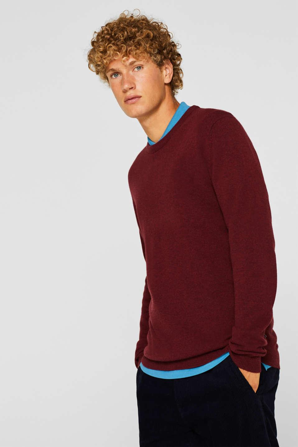 Sweaters, DARK RED, detail image number 0