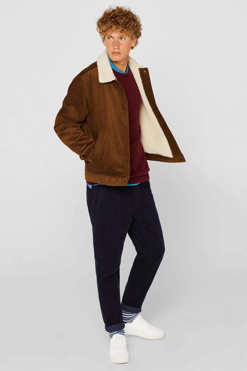 Sweaters, DARK RED, detail image number 1