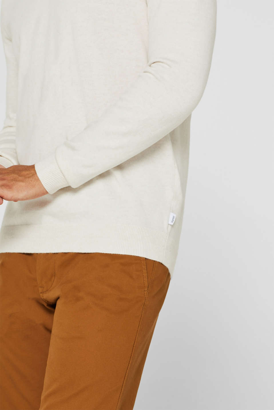 With cashmere: Basic style jumper, OFF WHITE, detail image number 5