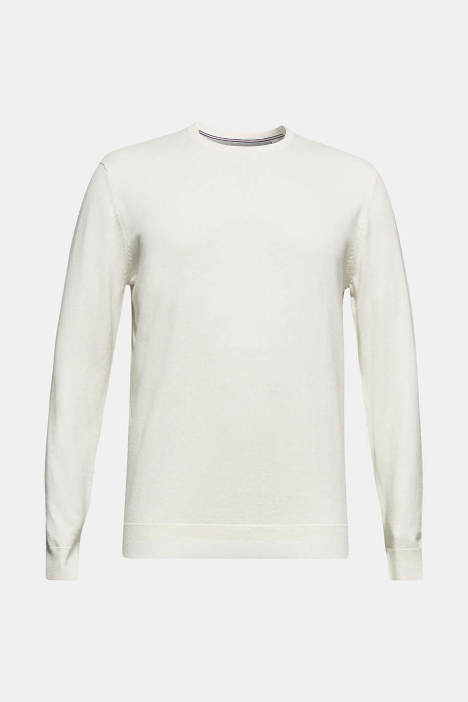 With cashmere: Basic style jumper, OFF WHITE, detail image number 7