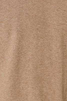 With cashmere: Basic style jumper, TAUPE, detail