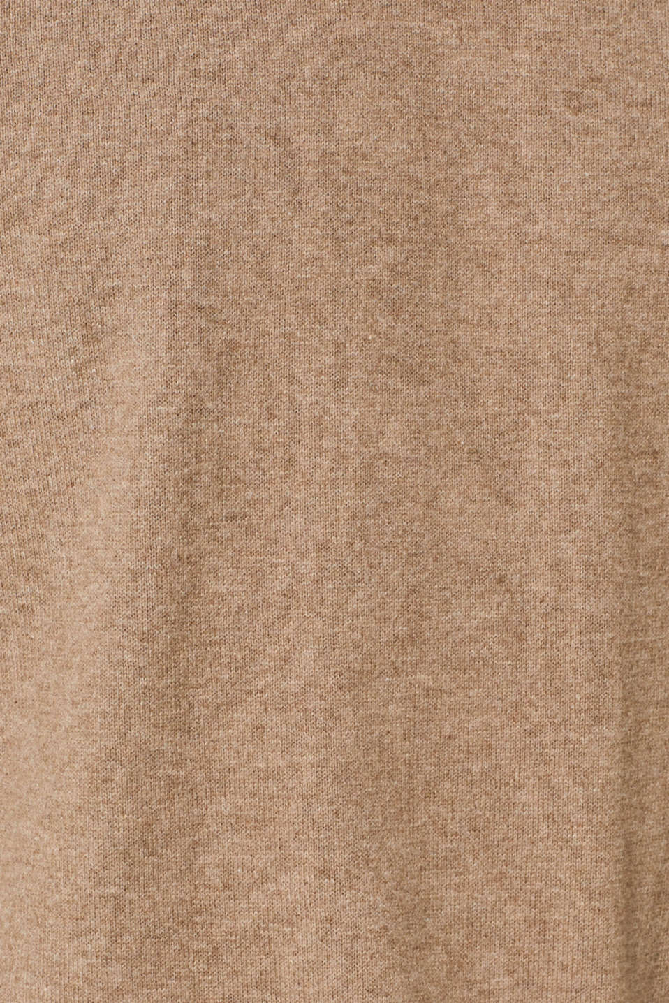 With cashmere: Basic style jumper, TAUPE, detail image number 4