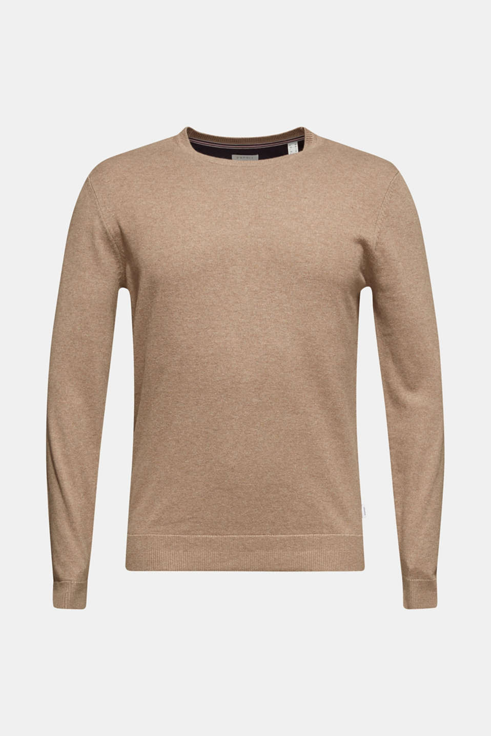 With cashmere: Basic style jumper, TAUPE, detail image number 7