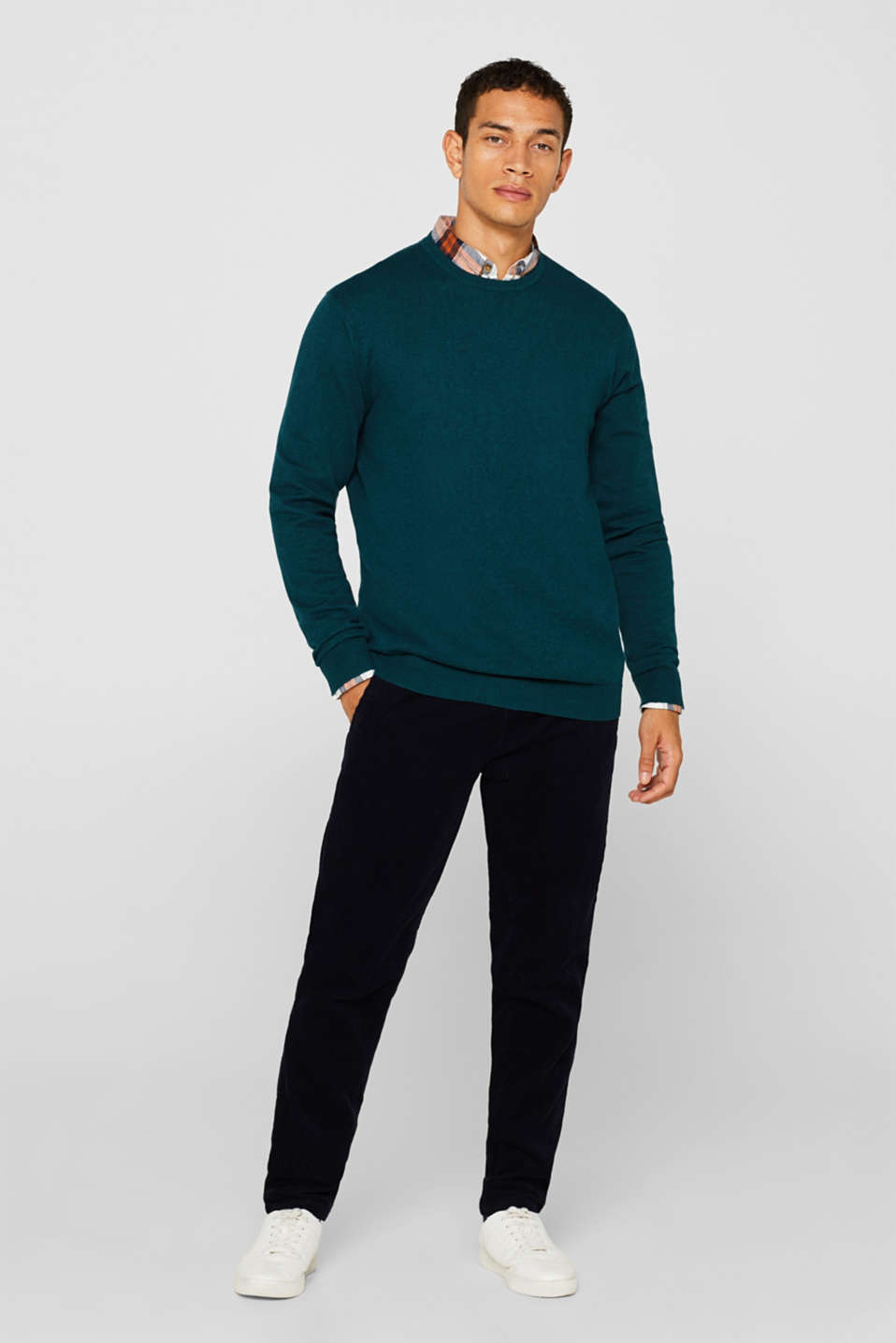 Sweaters, TEAL GREEN, detail image number 1