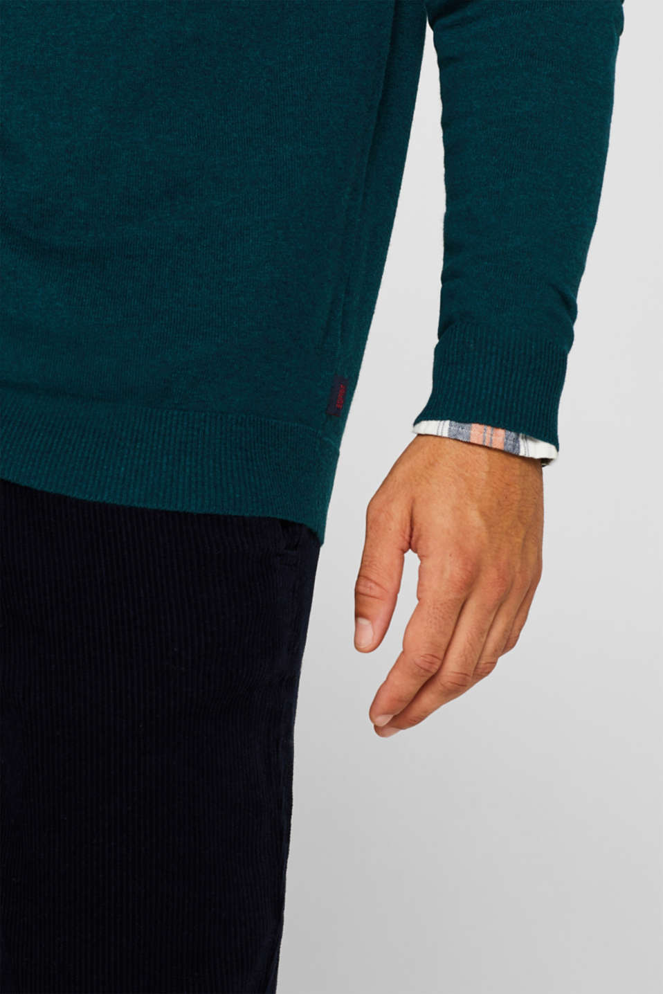 Sweaters, TEAL GREEN, detail image number 2