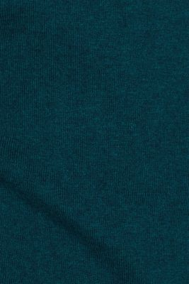 With cashmere: Basic style jumper, TEAL GREEN, detail