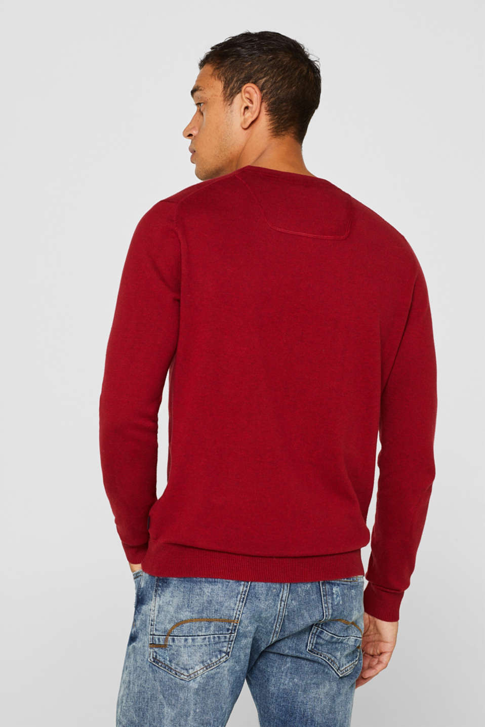 Sweaters, GARNET RED, detail image number 3