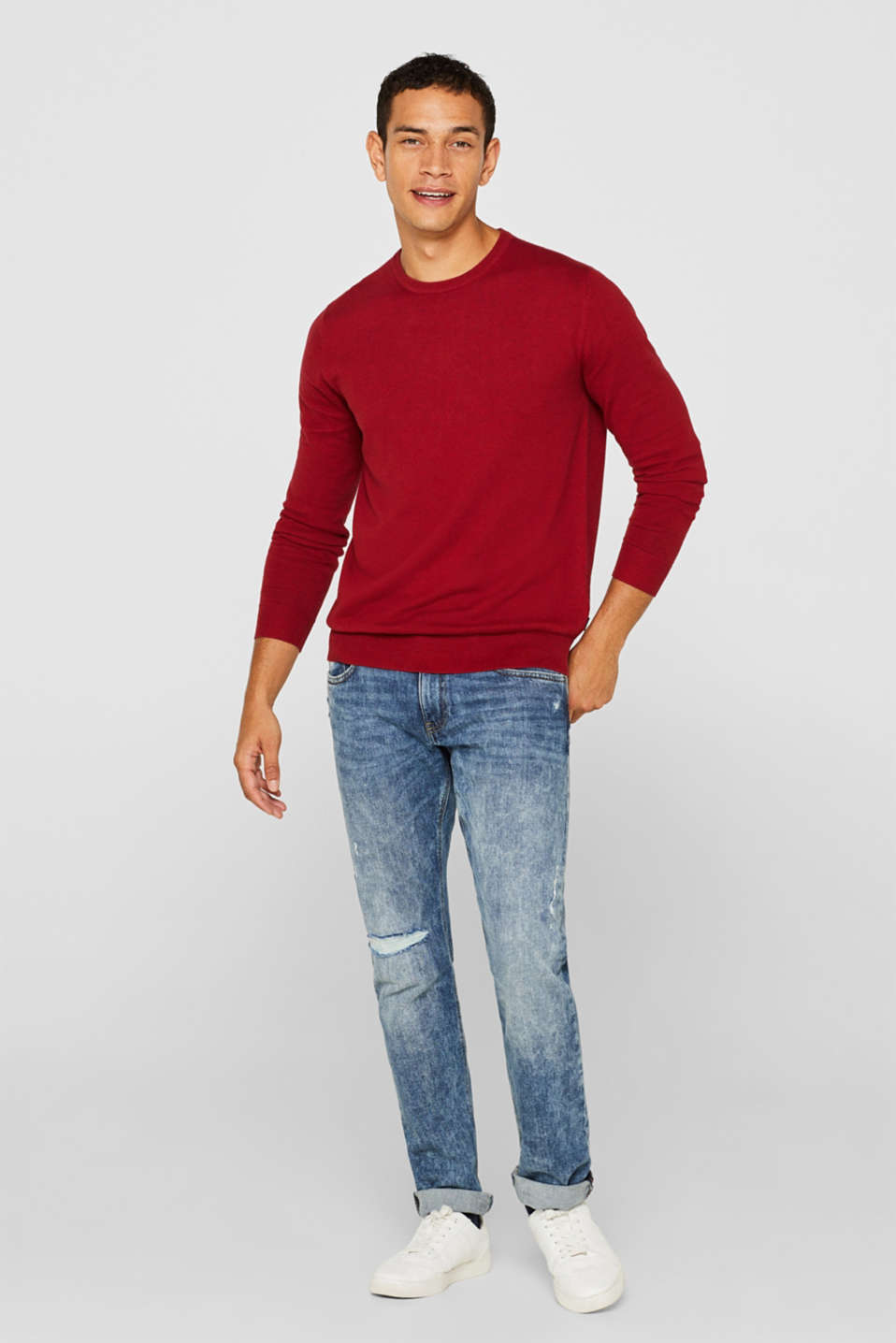 Sweaters, GARNET RED, detail image number 1