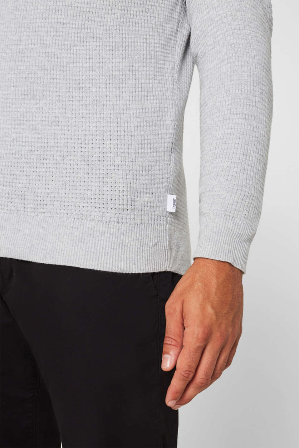 Sweaters, LIGHT GREY, detail image number 5