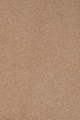 Cashmere blend: textured knit jumper, TAUPE, detail