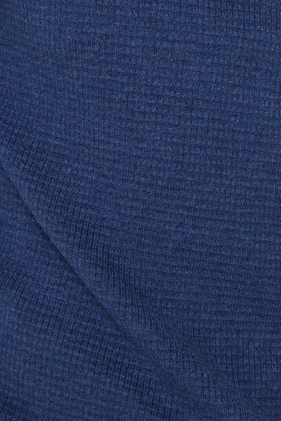 Sweaters, DARK BLUE, detail image number 4