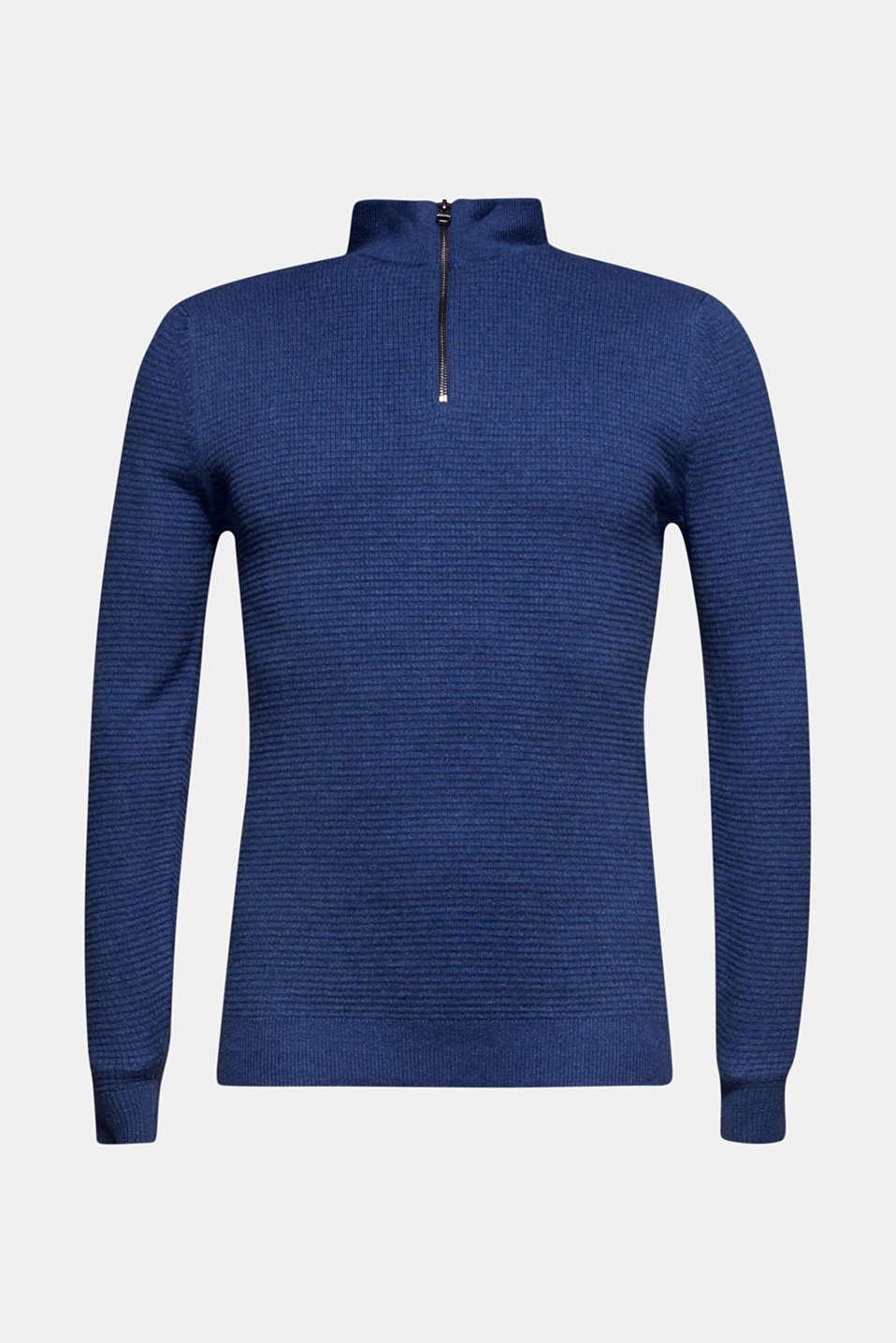 Sweaters, DARK BLUE, detail image number 7