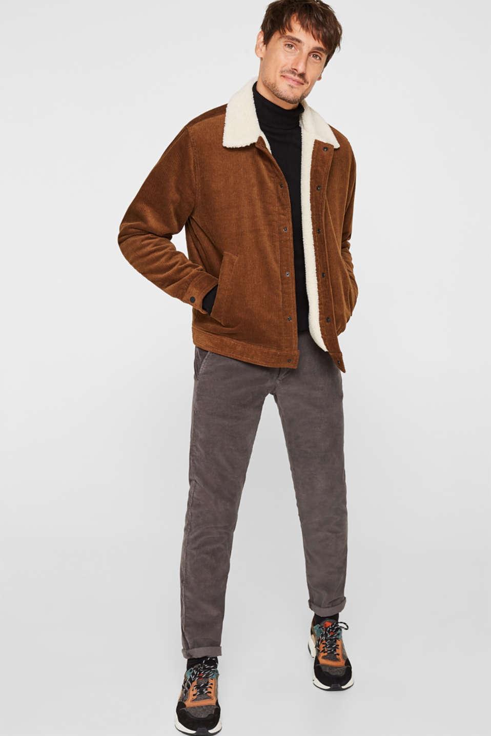 Polo neck jumper, 100% cotton, BLACK, detail image number 1