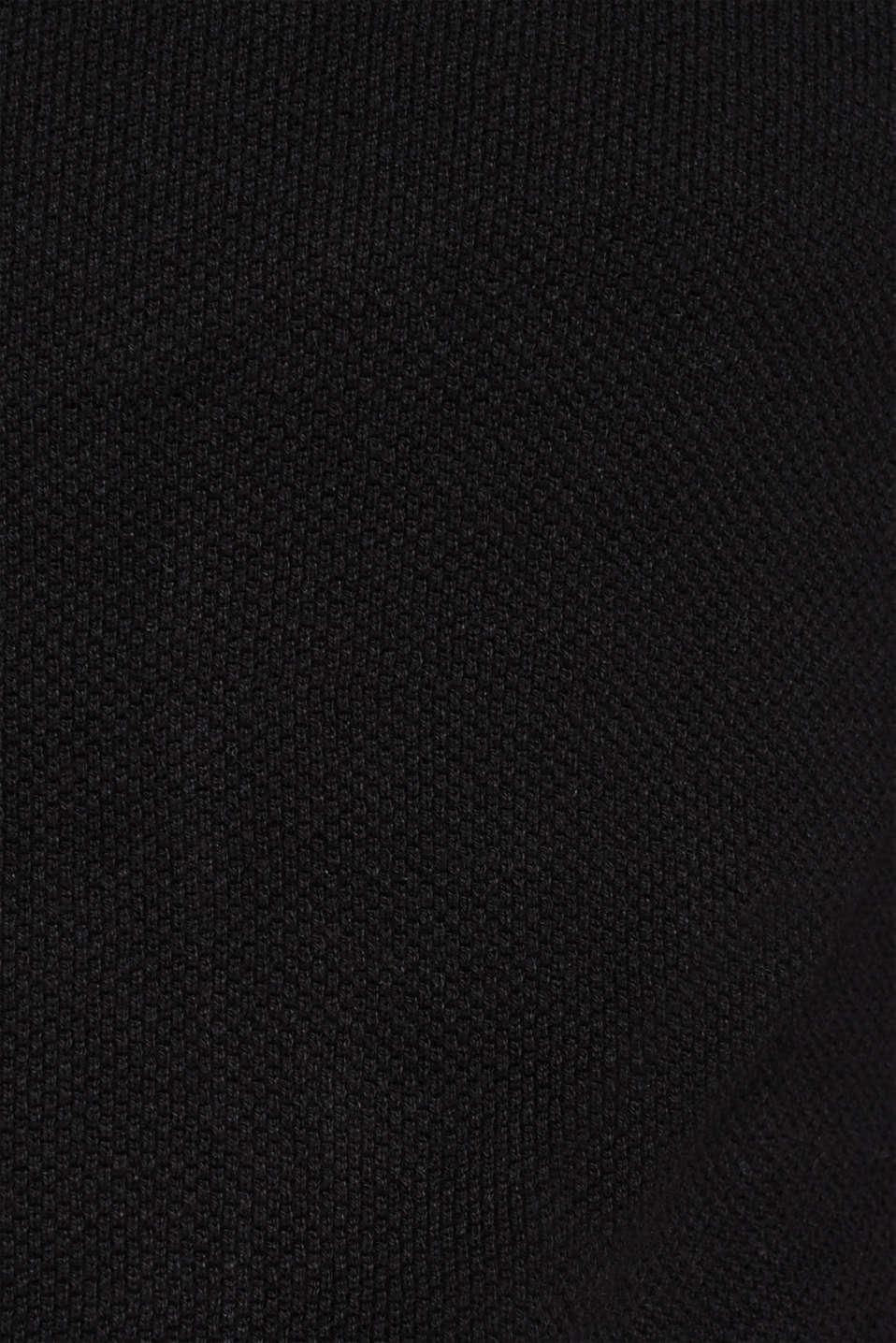 Polo neck jumper, 100% cotton, BLACK, detail image number 4