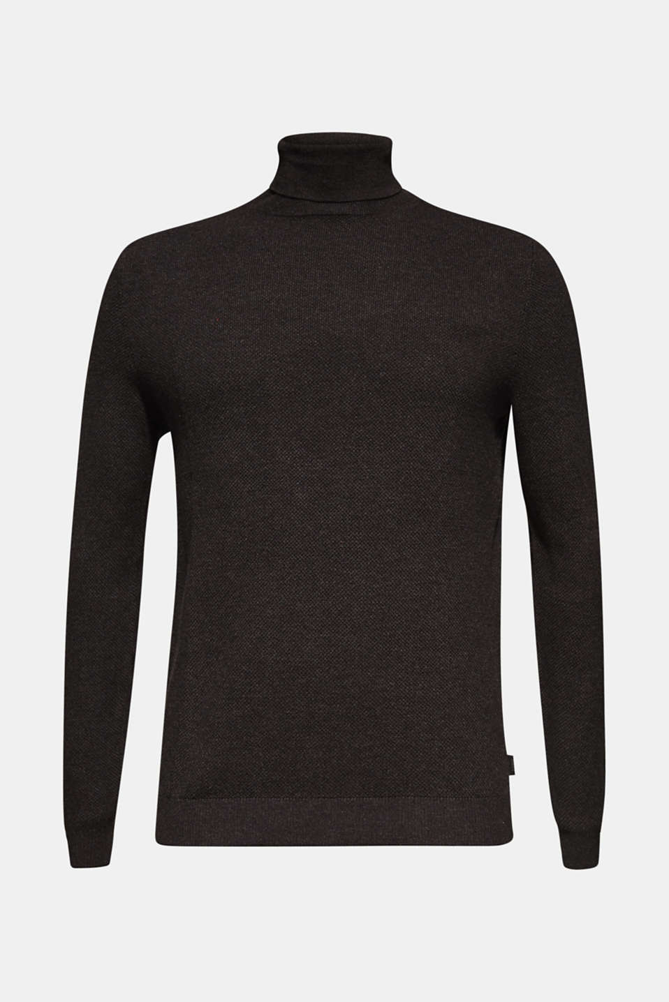 Polo neck jumper, 100% cotton, ANTHRACITE, detail image number 6