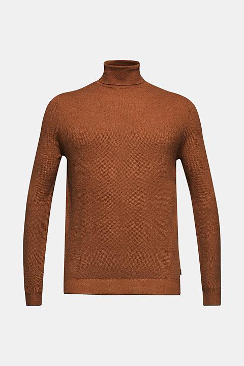 Polo neck jumper, 100% cotton