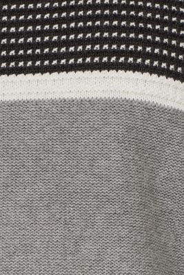 Jumper with a mix of textures, 100% cotton