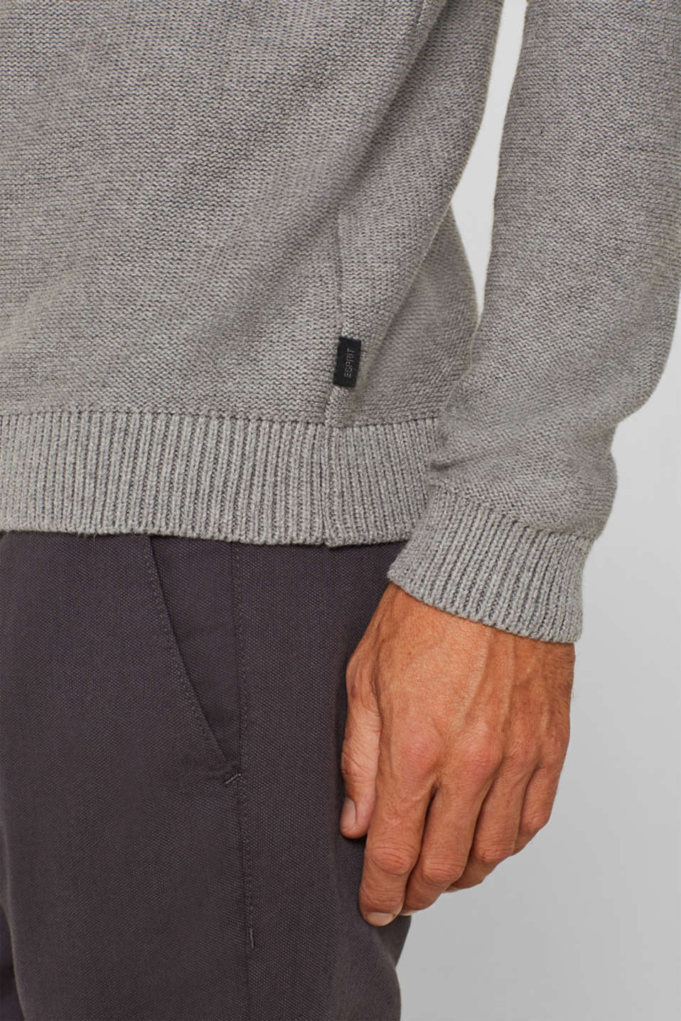 Sweaters, GREY, detail image number 5