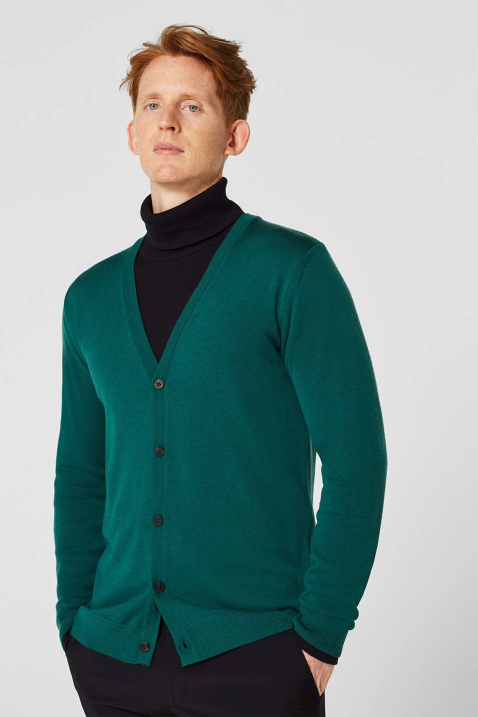 Sweaters, EMERALD GREEN, detail image number 0