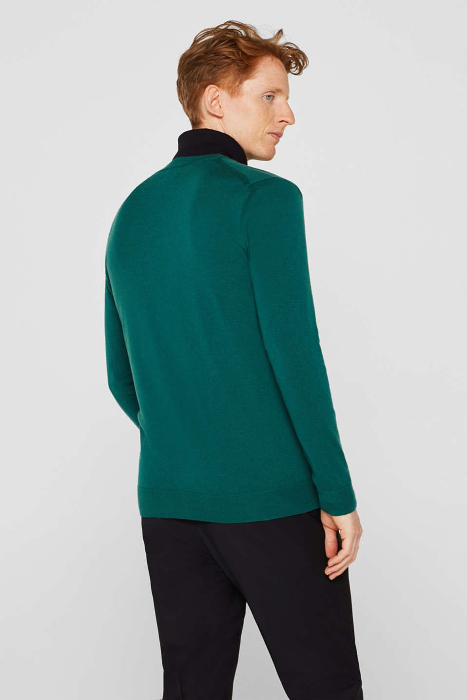 Sweaters, EMERALD GREEN, detail image number 3