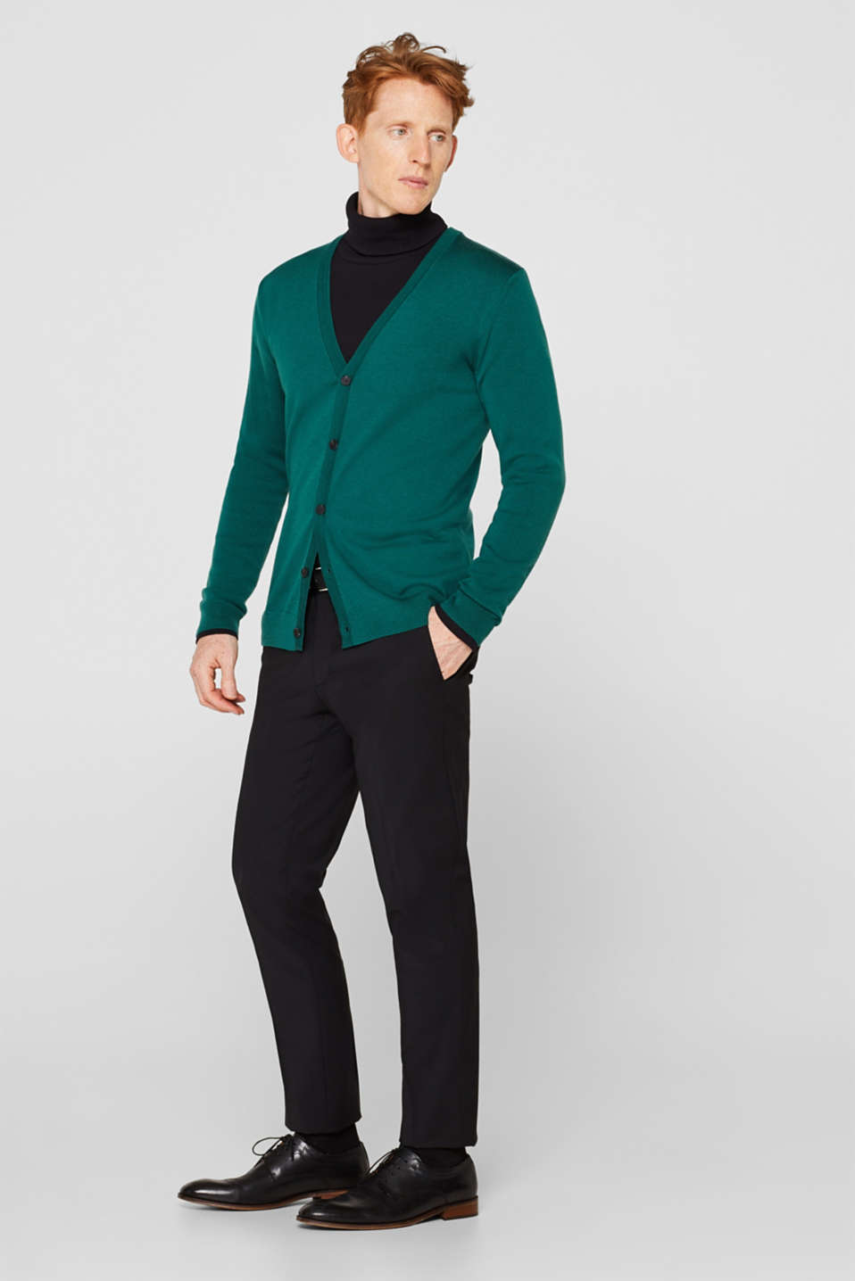 Sweaters, EMERALD GREEN, detail image number 1
