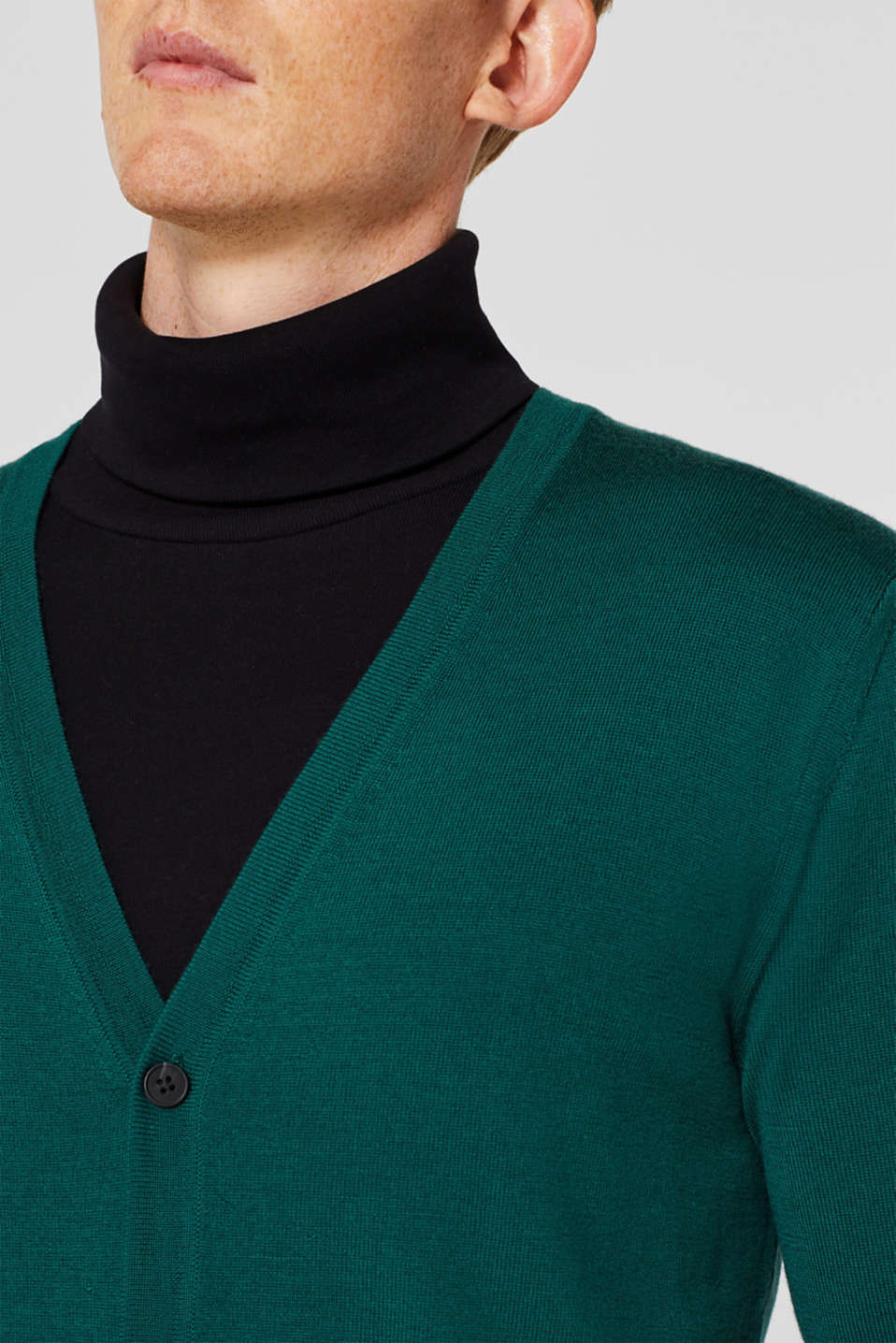 Sweaters, EMERALD GREEN, detail image number 2