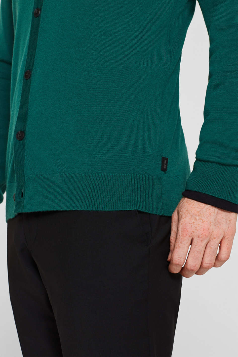 Sweaters, EMERALD GREEN, detail image number 6