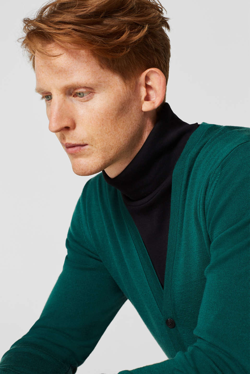 Sweaters, EMERALD GREEN, detail image number 5