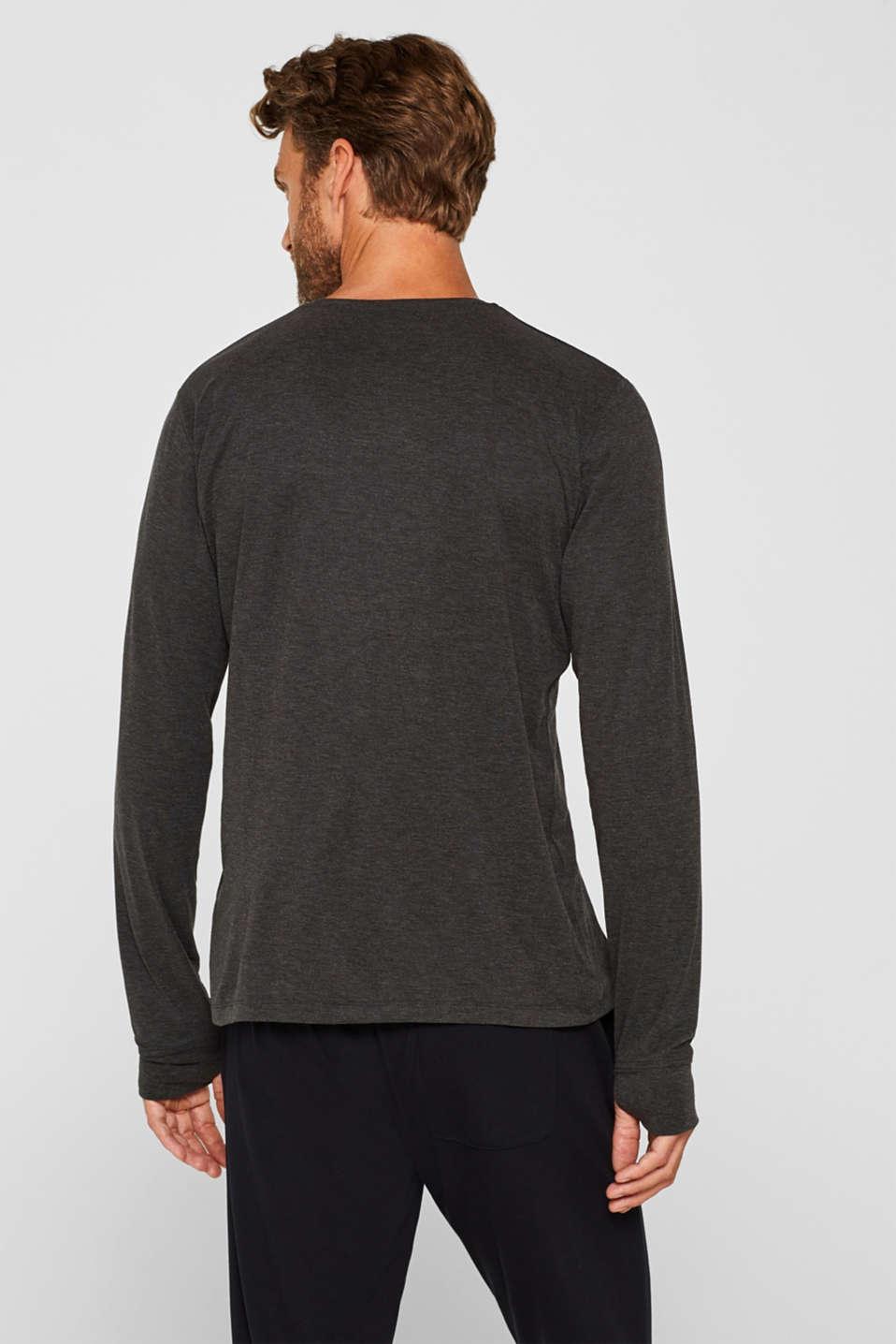 Warming jersey top, DARK GREY, detail image number 3