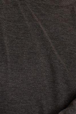 Warming jersey top, DARK GREY, detail