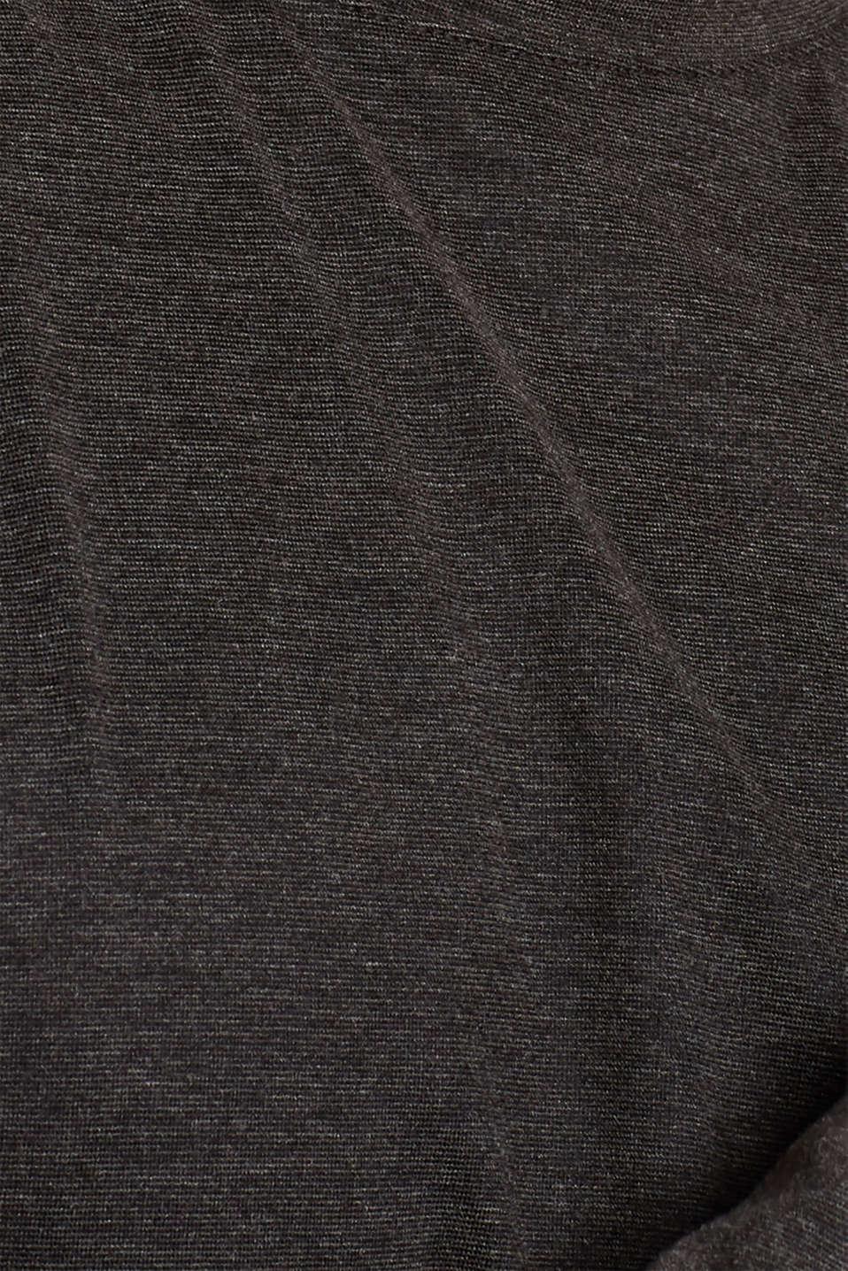 Warming jersey top, DARK GREY, detail image number 5
