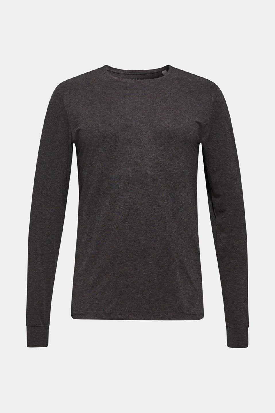 Warming jersey top, DARK GREY, detail image number 6