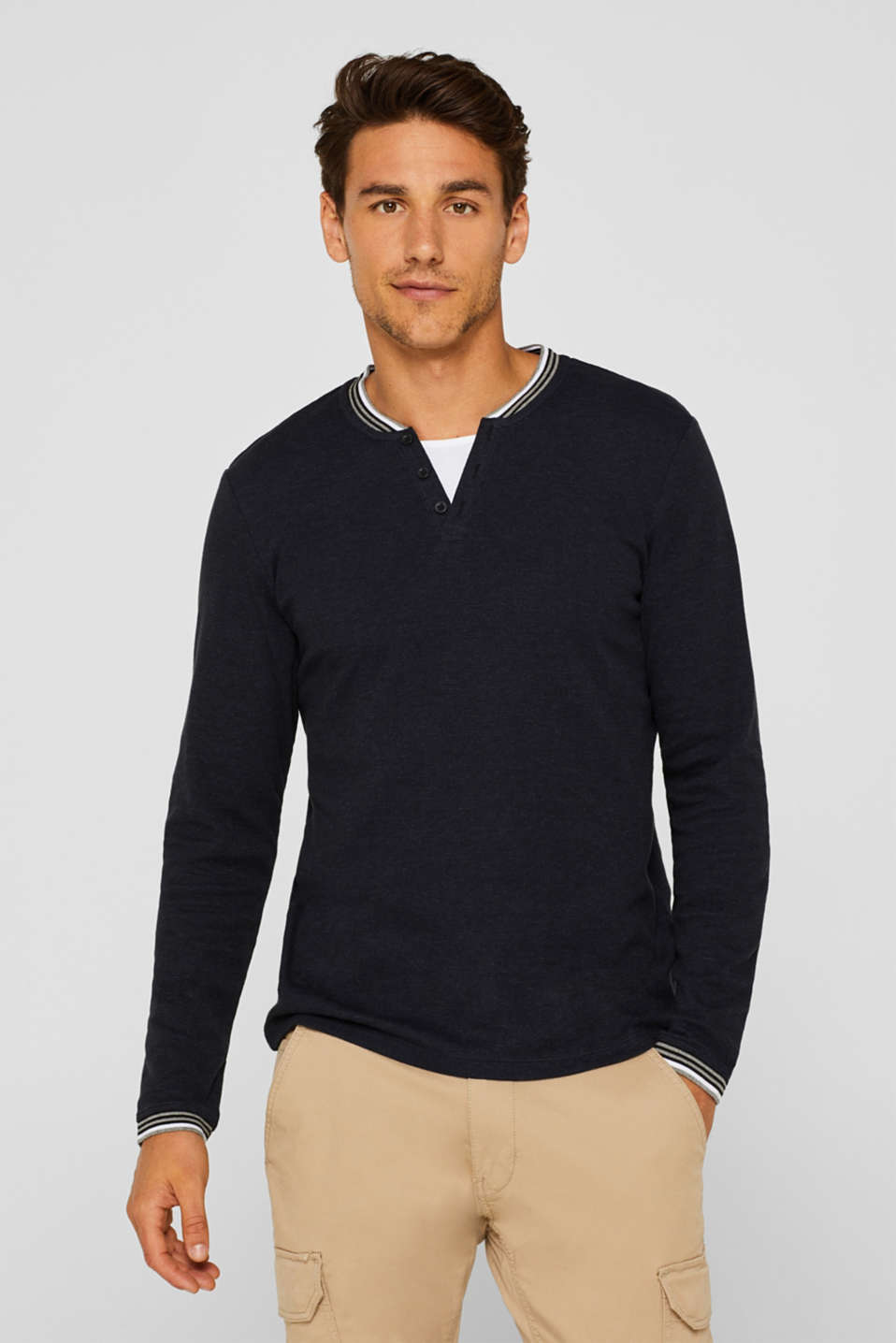 Esprit - Long sleeve jersey top in a layered look