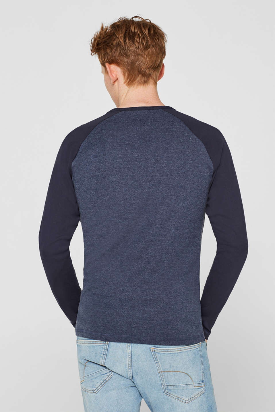 Long sleeve jersey top with raglan sleeves, NAVY, detail image number 3