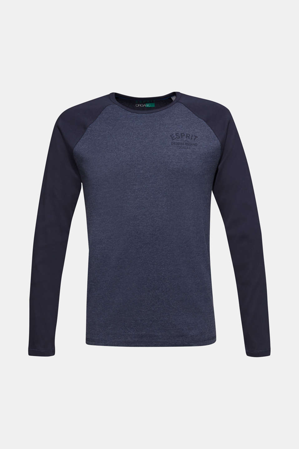 Long sleeve jersey top with raglan sleeves, NAVY, detail image number 6