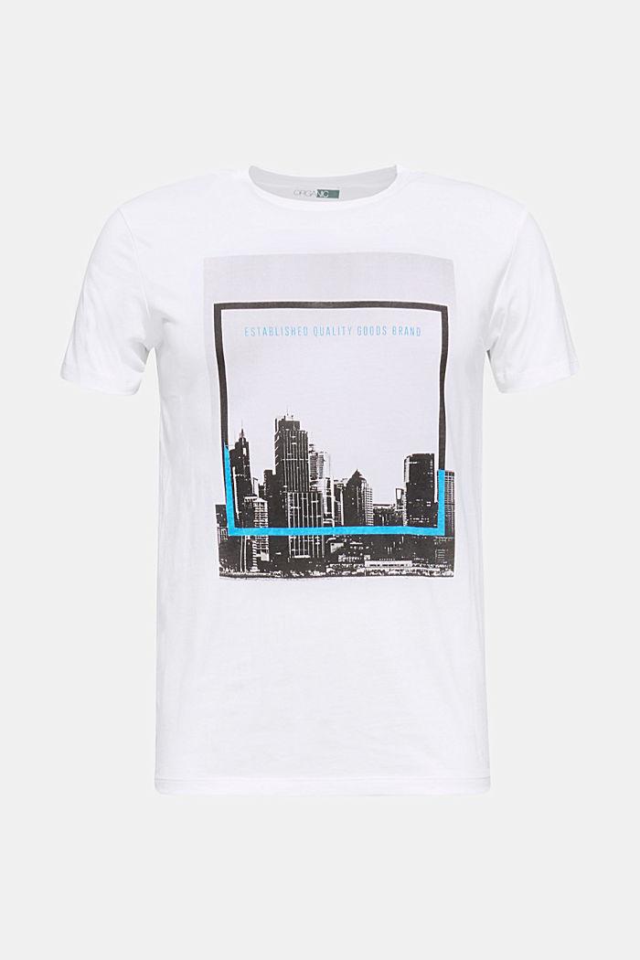 Jersey-Shirt mit Foto-Print, 100% Baumwolle, WHITE, detail image number 0