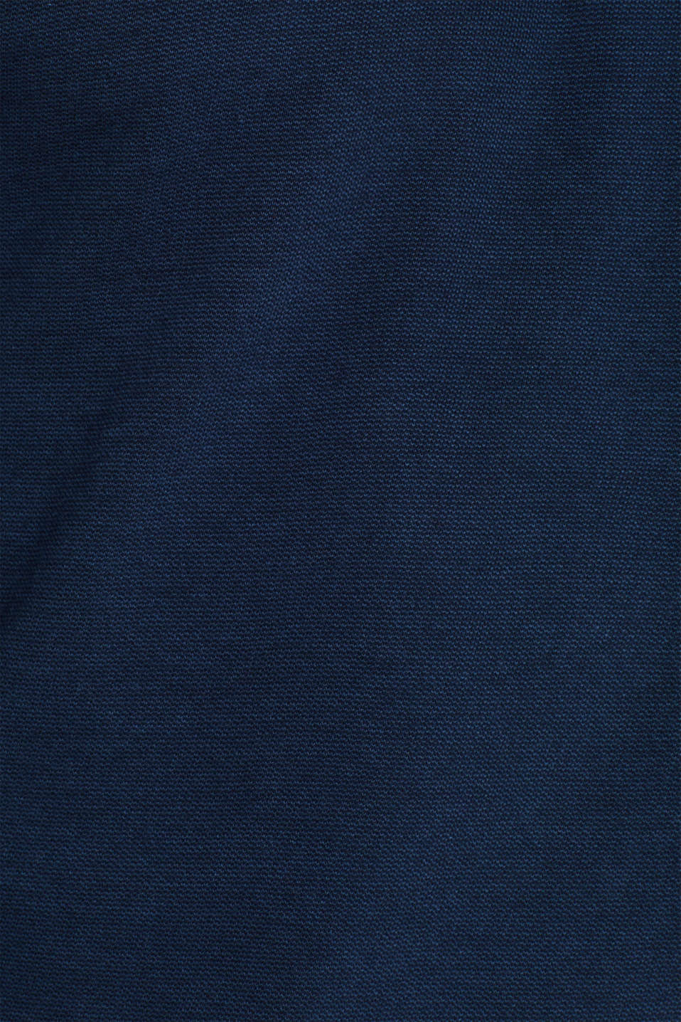 Jersey polo shirt in 100% cotton, NAVY, detail image number 4