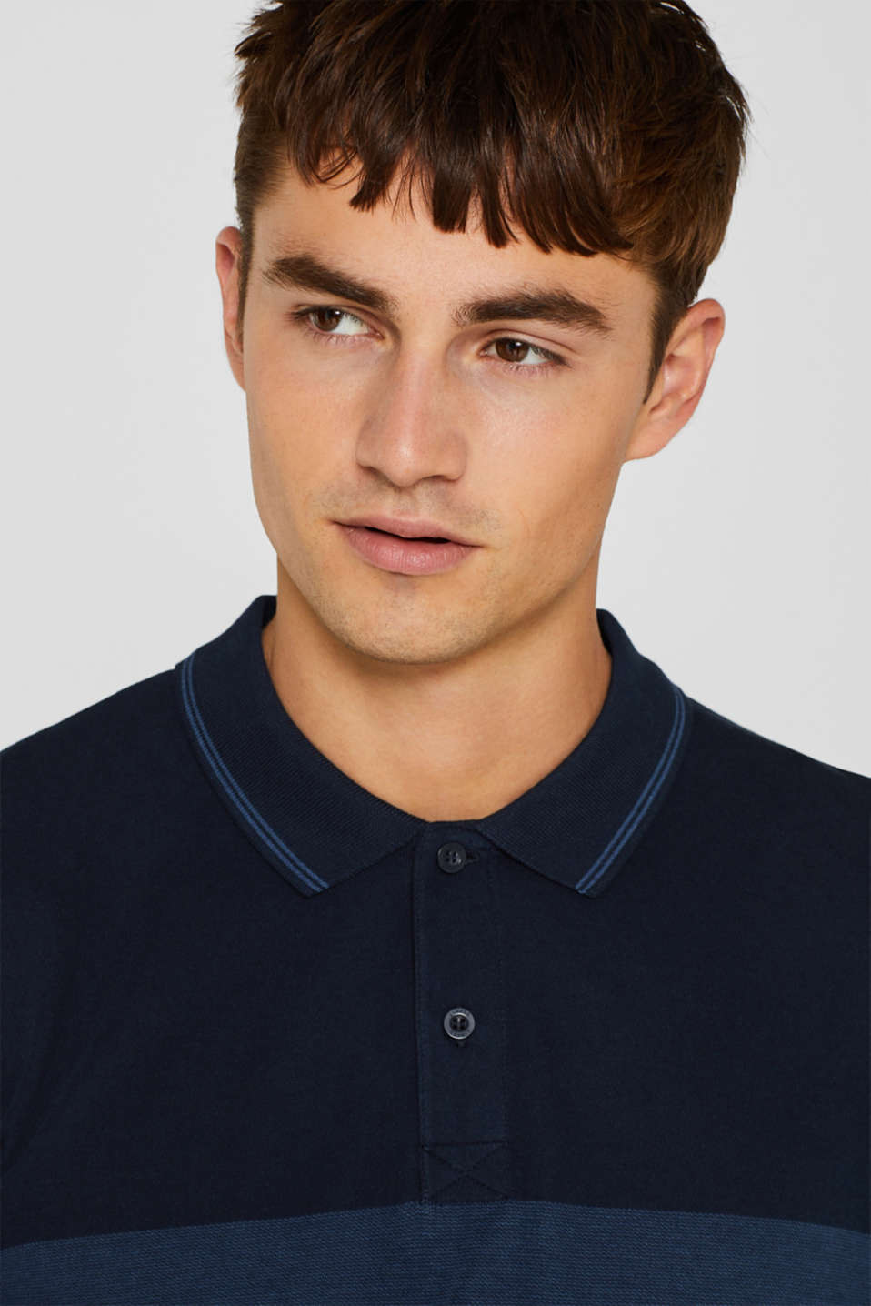 Jersey polo shirt in 100% cotton, NAVY, detail image number 5