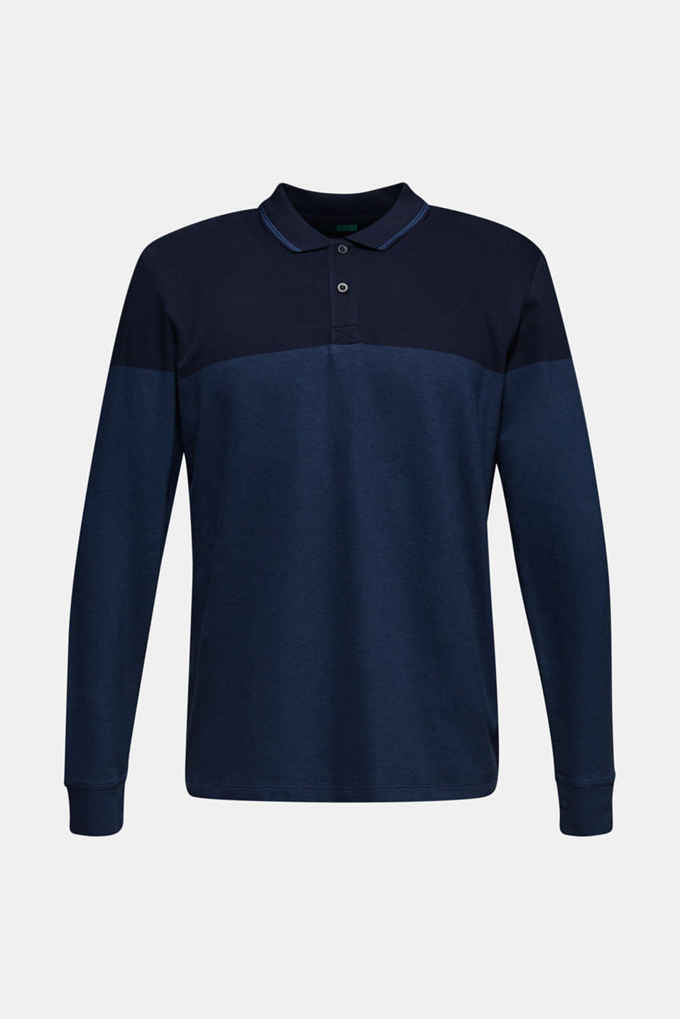 Jersey polo shirt in 100% cotton, NAVY, detail image number 6
