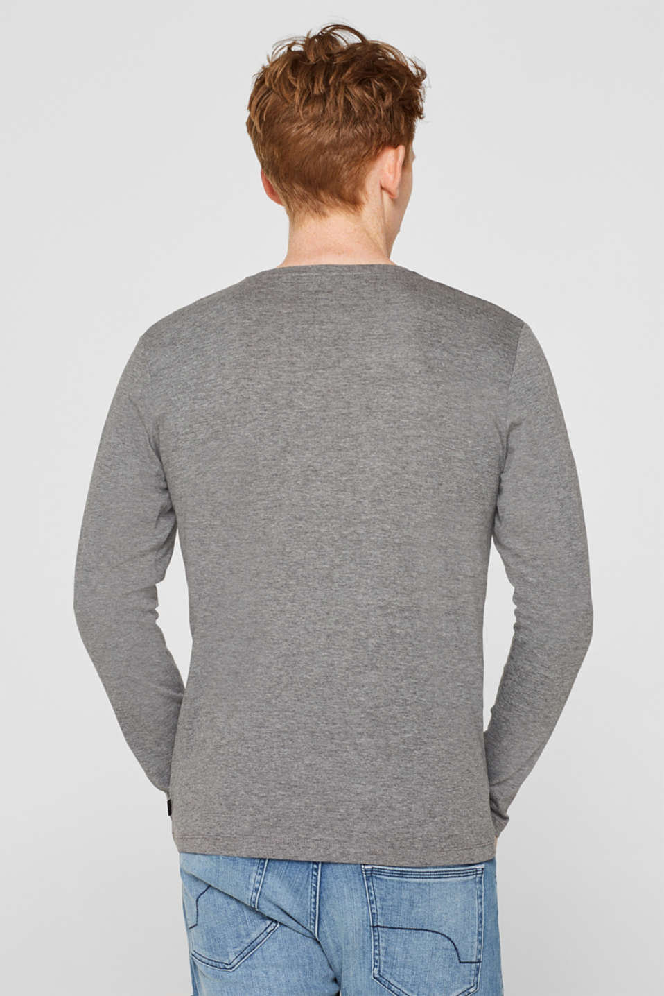 Long sleeve jersey top with an Xmas print, MEDIUM GREY, detail image number 3