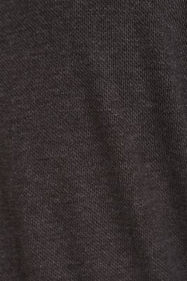 Jersey long sleeve top with a waffle pattern, DARK GREY, detail
