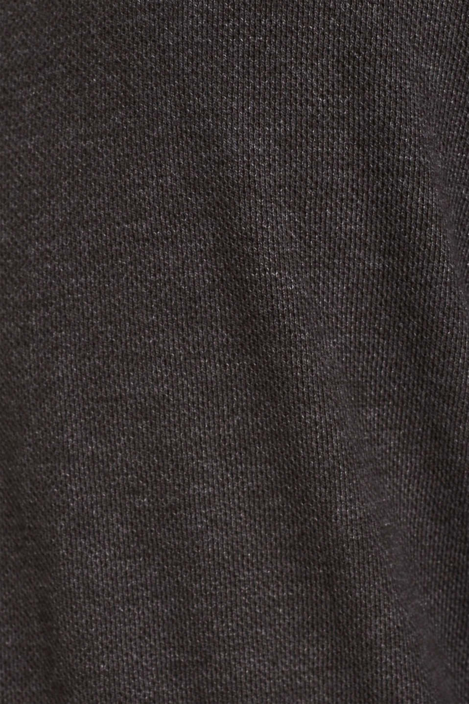 Jersey long sleeve top with a waffle pattern, DARK GREY, detail image number 4