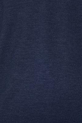 Long sleeve Henley T-shirt made of piqué, NAVY, detail