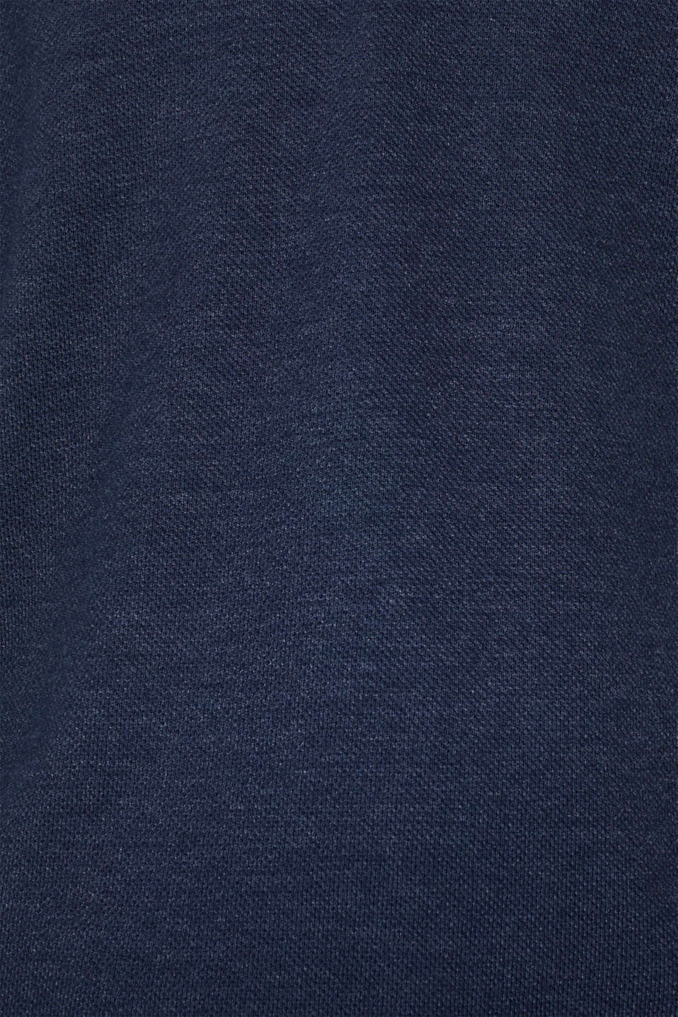 Long sleeve Henley T-shirt made of piqué, NAVY, detail image number 4
