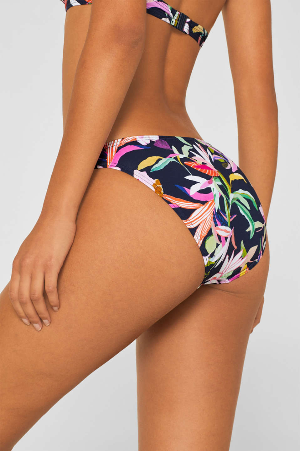 Mini briefs with a floral print, NAVY, detail image number 1