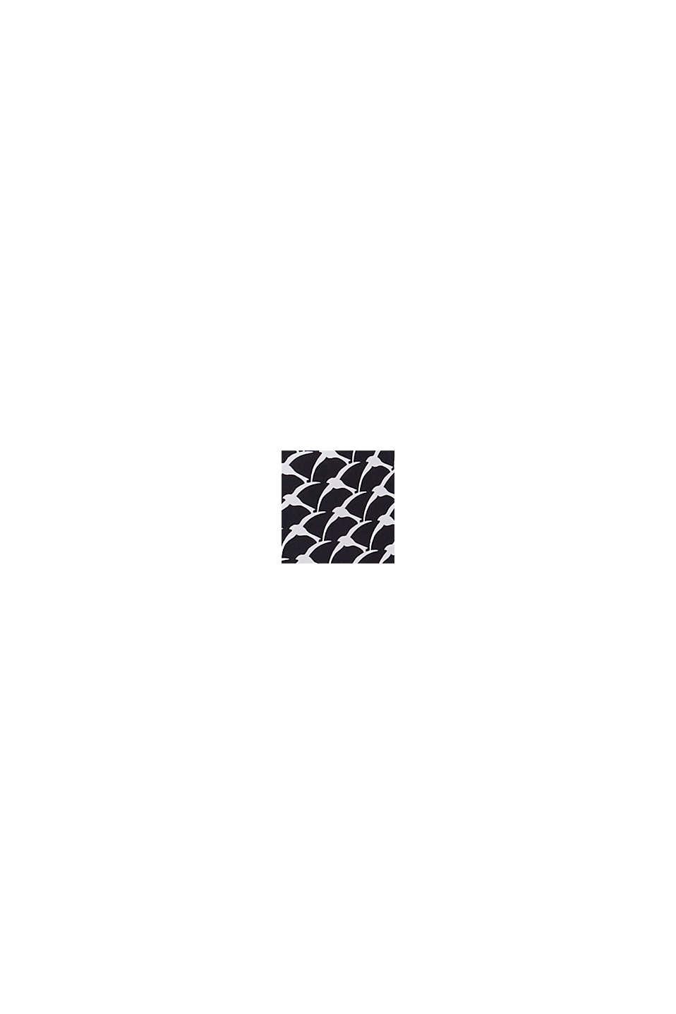 Upolstret top med print, til store skålstørrelser, BLACK, swatch