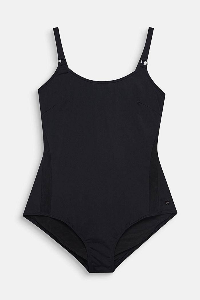 Badeanzug mit verdeckten Bügeln, BLACK, detail image number 0
